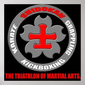Shidokan Karate - Triathlon Large Poster