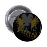 Shield and Angels Pinback Button
