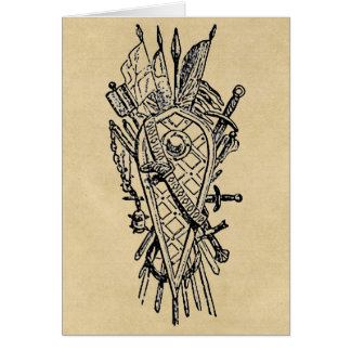 Shield and Sword Fencing Logo Card