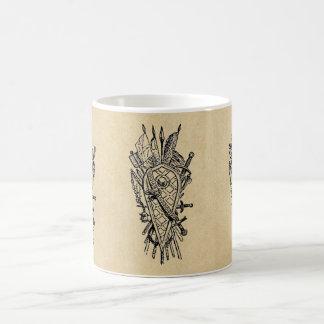 Shield and Sword Fencing Logo Coffee Mug