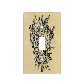 Shield and Sword Fencing Logo Light Switch Cover