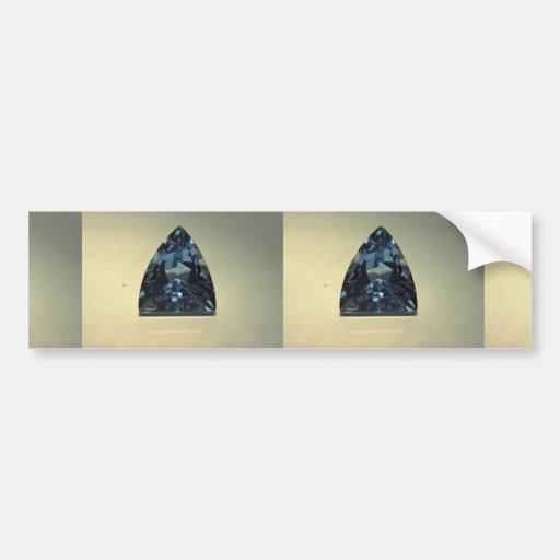 Shield cut blue topaz bumper stickers