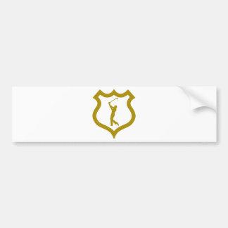 shield-golf.png bumper sticker