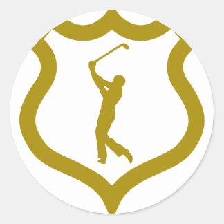 shield-golf.png classic round sticker