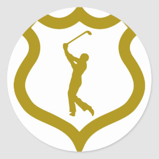 shield-golf.png pegatina redonda