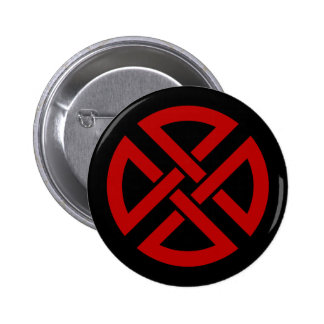 Shield Knot (Celtic version in red & black) Pin