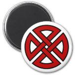 Shield Knot (Celtic version in red & black) Refrigerator Magnet