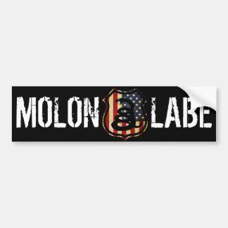 shield, MOLON, LABE Car Bumper Sticker