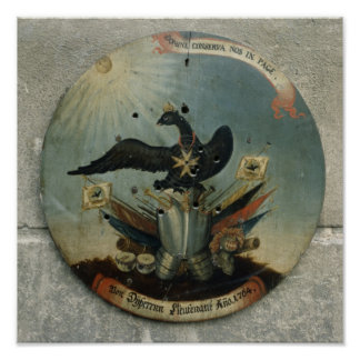 Shield of a Prussian officer, 1764 Poster