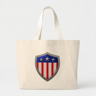Shield of American Flag Canvas Bags