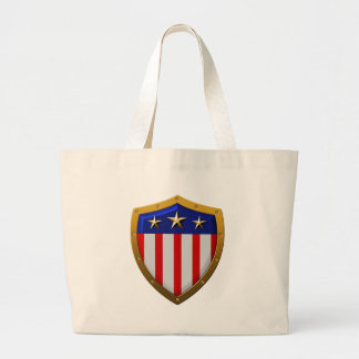 Shield of American Flag Tote Bag