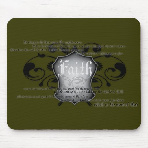 Shield of Faith (armor of God) mousemat Mousepad