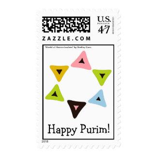 """""""Shield of Hamantaschen"""" Purim Postage"""