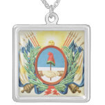 Shield of the Confederation of Argentina Silver Plated Necklace
