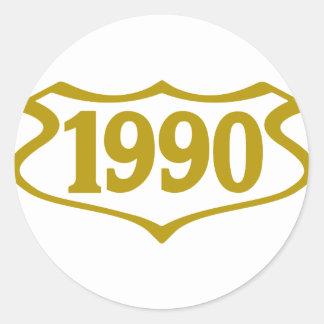 shield.png 1990 pegatina redonda