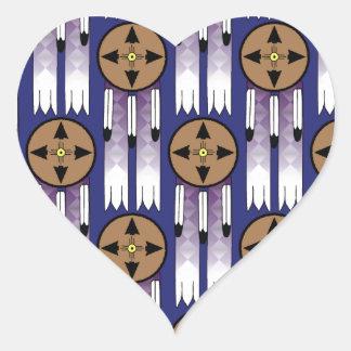 Shield Swatch Heart Sticker