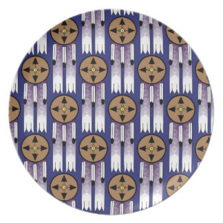 Shield Swatch Dinner Plate