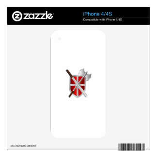 Shield. Sword And Axe iPhone 4 Skin