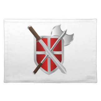Shield. Sword And Axe Placemat