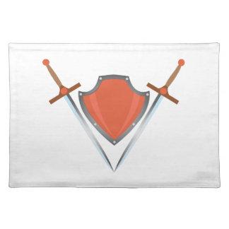 Shield Swords Cloth Placemat