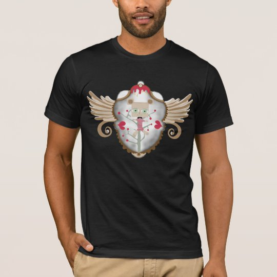 Shield teddy bear wings oldest swirls tulip shirt