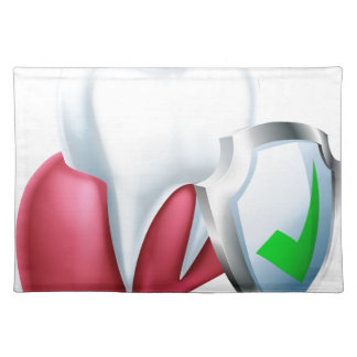 Shield Tooth and Gum Cloth Placemat
