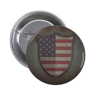 Shield Usa flag. Pin