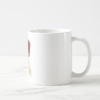 Shield wax seal with ribbons coffee mugs