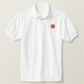 Shield with Anchors Embroidered Polo Shirt