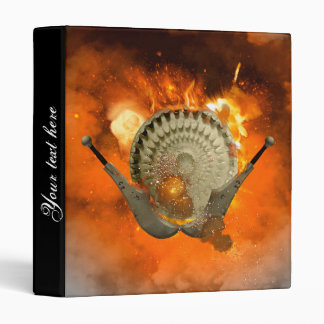 Shield with swords and fire 3 ring binders