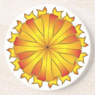 Shielded Golden Sun Coaster