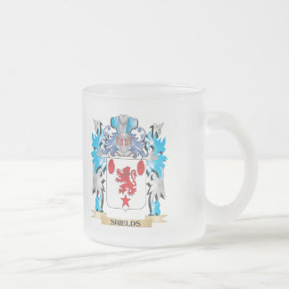 Shields Coat of Arms - Family Crest 10 Oz Frosted Glass Coffee Mug