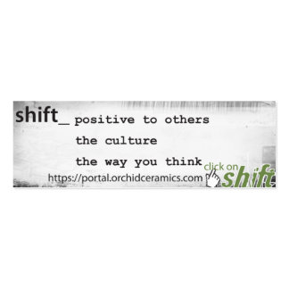 Shift Card Double-Sided Mini Business Cards (Pack Of 20)