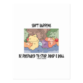 Shift Happens Be Prepared To Stop, Drop & Roll Postcards