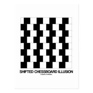 Shifted Chessboard Illusion (Optical Illusion) Postcard