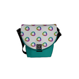 Shifted Pastel Polka Dots Pattern Custom Backgrnd Courier Bag