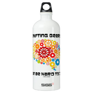 Shifting Gears Can Be Hard To Do (Brain Gears) Aluminum Water Bottle