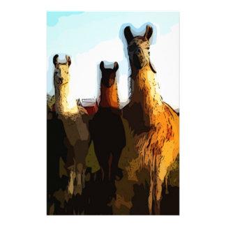 Shifty llamas stationery