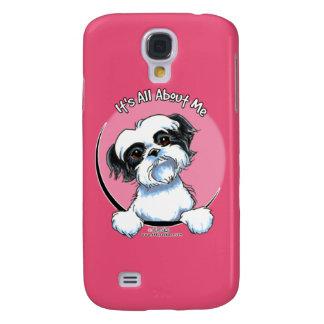 Shih negro/blanco Tzu IAAM Carcasa Para Galaxy S4