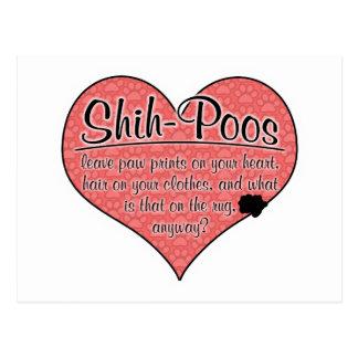 Shih-Poo Paw Prints Dog Humor Post Card