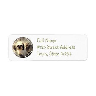 Shih Tsu Dog Return Address Label