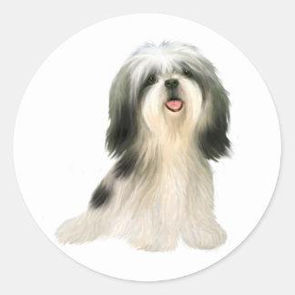 Shih Tzu (3) - illustrated Classic Round Sticker