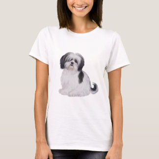 Shih tzu (A) - black and white T-Shirt