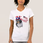 Shih Tzu American Pride T Shirts