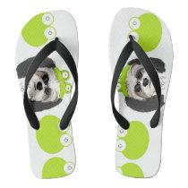 Shih Tzu and Frogs Flip Flops