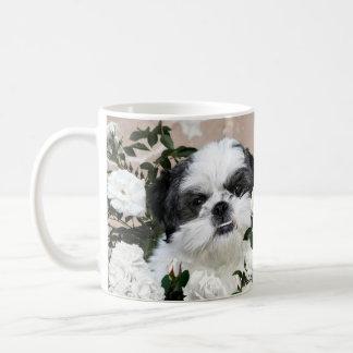 Shih Tzu and roses Coffee Mug