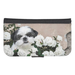Samsung Galaxy S4 Wallet Case with Shih Tzu Phone Cases design