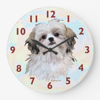 Shih Tzu Art Clock