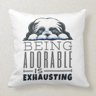 Shih Tzu Being Adorable Throw Pillow
