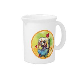 Shih tzu beverage pitcher